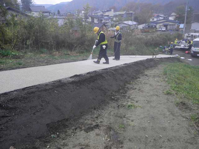 自然石ニート式舗装(コールカットN工法)画像4