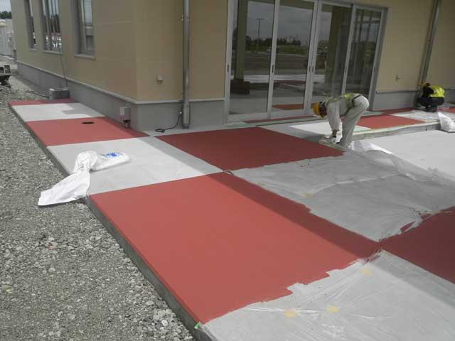 塗布式カラー舗装(カラーコート工法)画像2