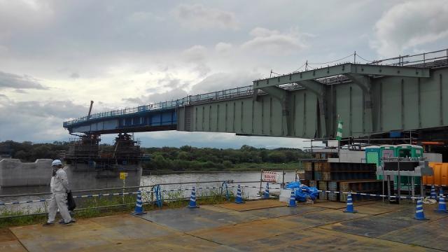 新小谷木橋を見学